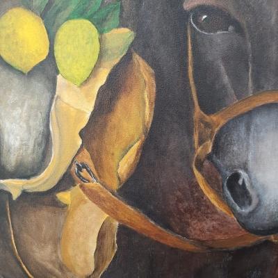 Donkey painting