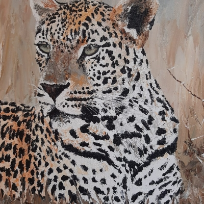 Leopard painting